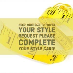 Other - Your Style Card Does Not Include Your Sizes